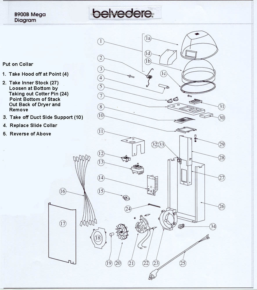 Salon chair dimensions - Installing Slide Collar Instructions
