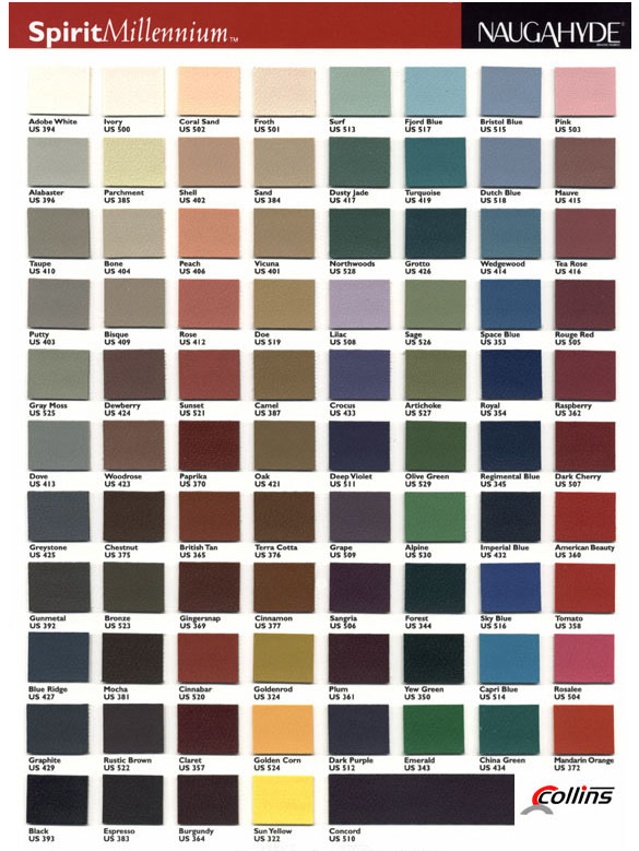 Collins Upholstery Color Selections
