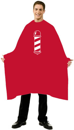 Barber Jackets And Capes : Shampoo cape - chemical capes - rain hats