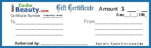 $ 10.00 Gift Certificate