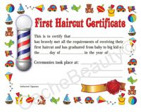 Child's Haircut Certificate