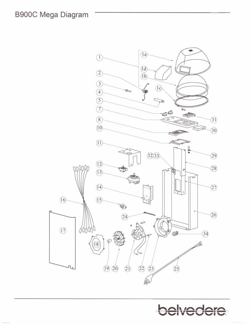 Belvedere Dryer Parts Belvedere 900 Dryer Parts Diagram