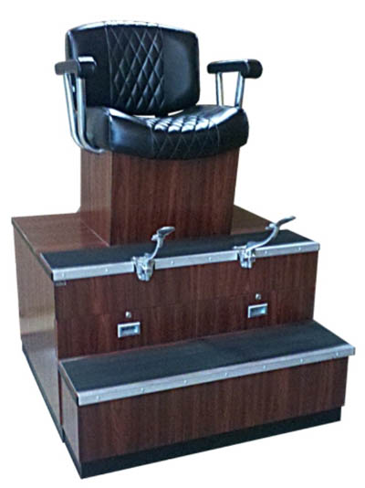 Collins Equipment Collins Continental Shoe Shine Stand