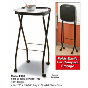 Kayline carts manicure tables appliance holders for Fold up nail table