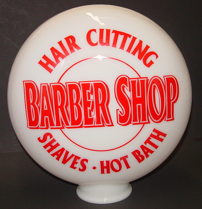 Barber Pole Parts Canteen Glass Globe 12 Quot With 4 Quot Opening