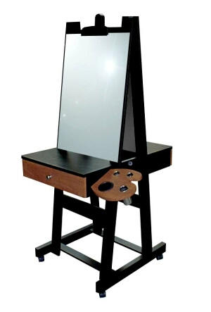 Easel Portable Styling Station With Hair Salon