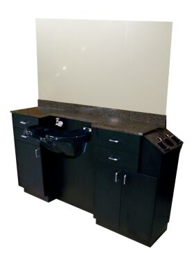 How to install a free standing shampoo bowl units